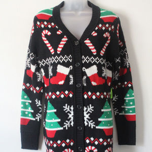 Allison Brittney Christmas Cardigan Sweater